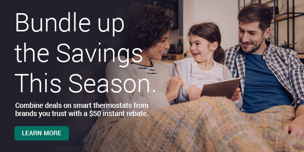 Cyber Monday Smart Thermostat Promo
